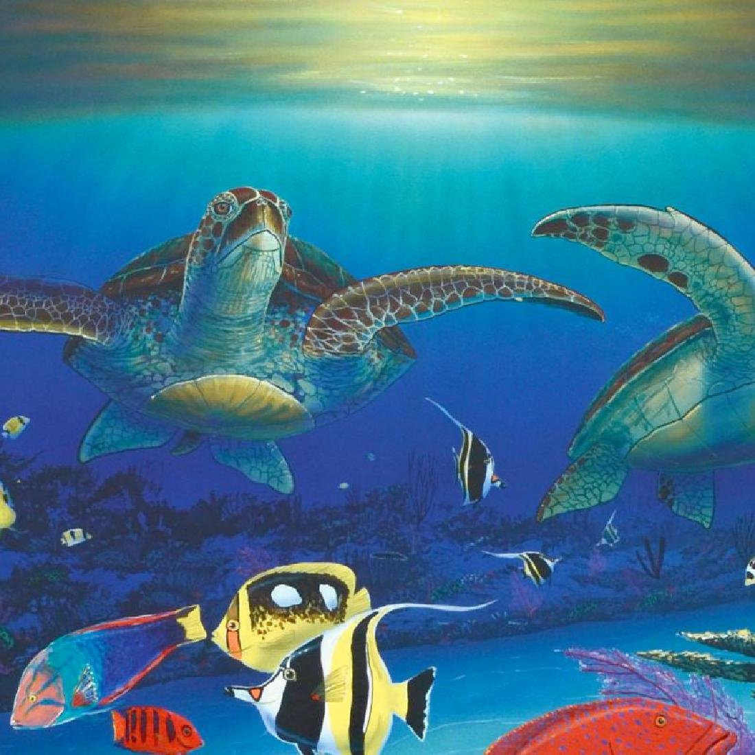 """""""Sea Turtle Reef"""" Limited Edition Lithograph by Famed - 2"""