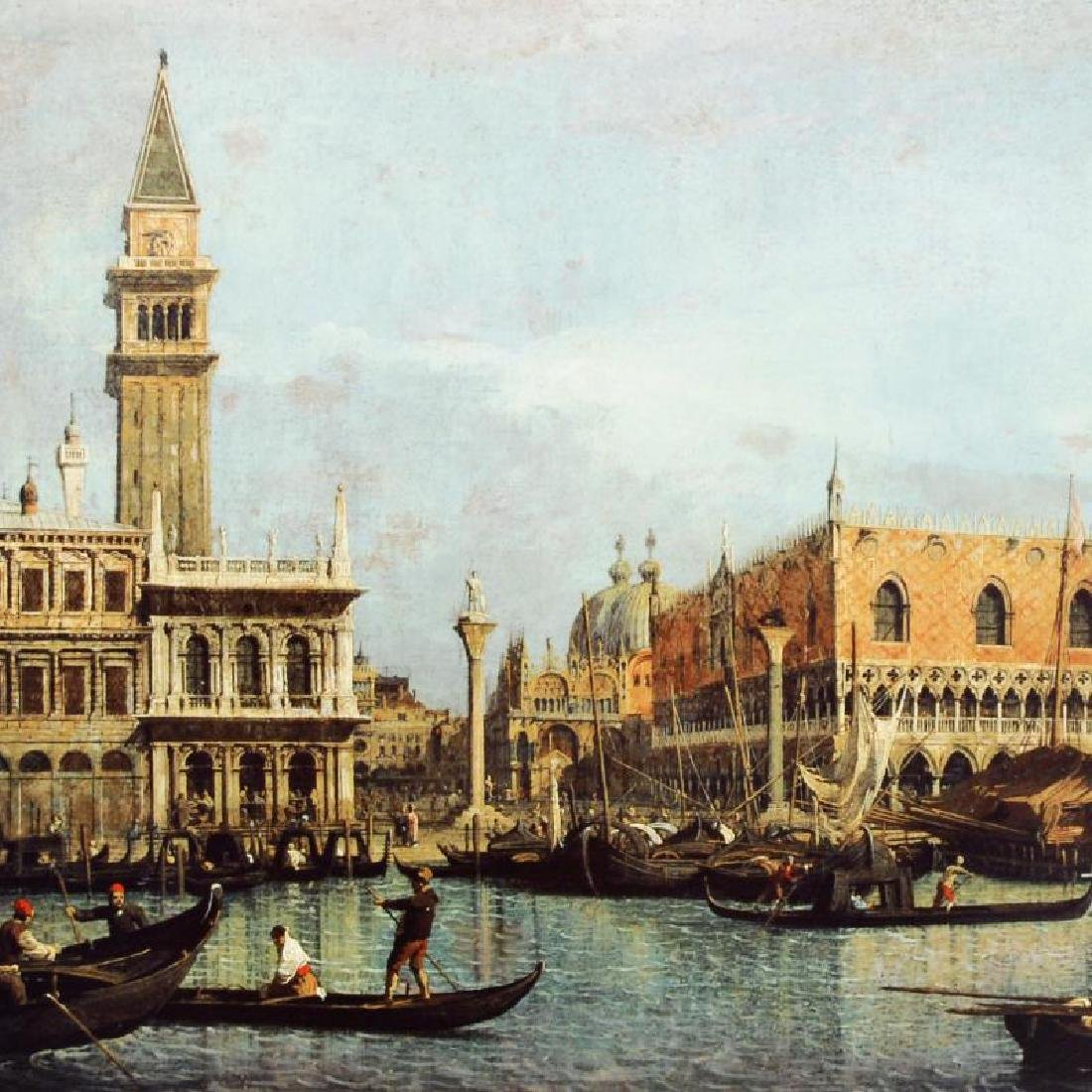 """Canal of San Marco with the Piazza San Marco"" Fine Art - 2"