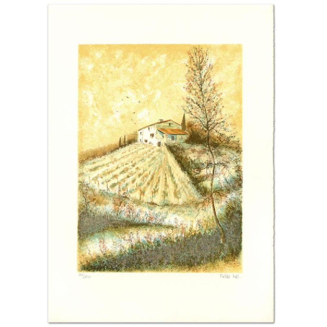 "Pierre Mas, ""Farm"" Limited Edition Lithograph, Numbered"