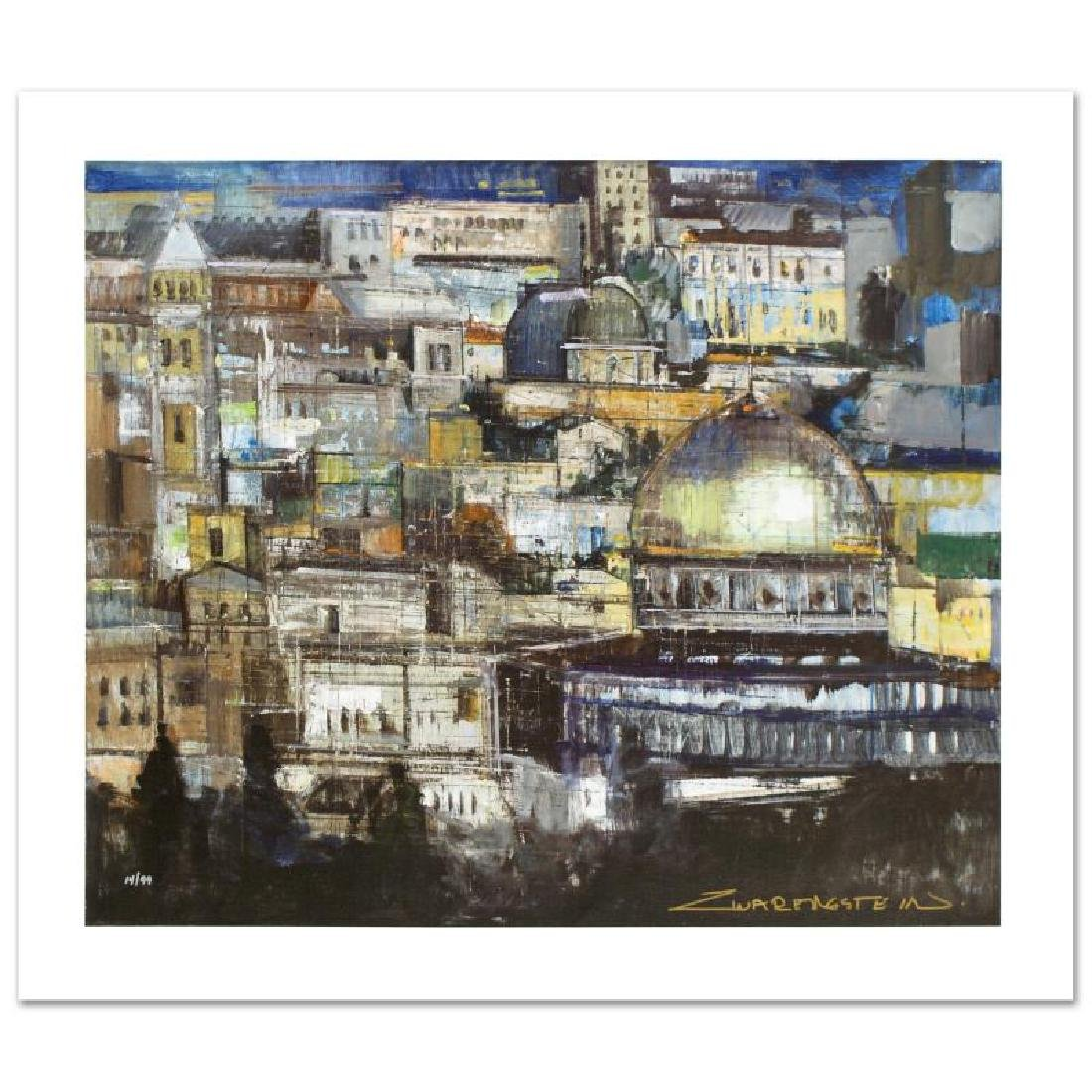 """""""Jerusalem at Dusk"""" Limited Edition Giclee on Canvas by"""