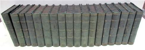 1871-1880 DECORATIVE BINDINGS 18 VOLUMES LOT ANTIQUE