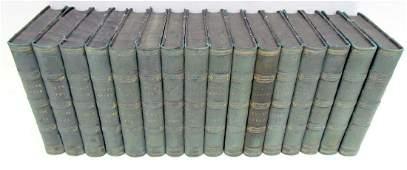 1851-1861 DECORATIVE BINDINGS 16 VOLUMES LOT ANTIQUE