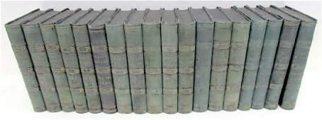 1836-1850 DECORATIVE BINDINGS 18 VOLUMES LOT ANTIQUE