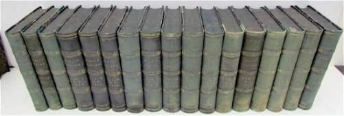 1861-1870 DECORATIVE BINDINGS 17 VOLUMES LOT ANTIQUE