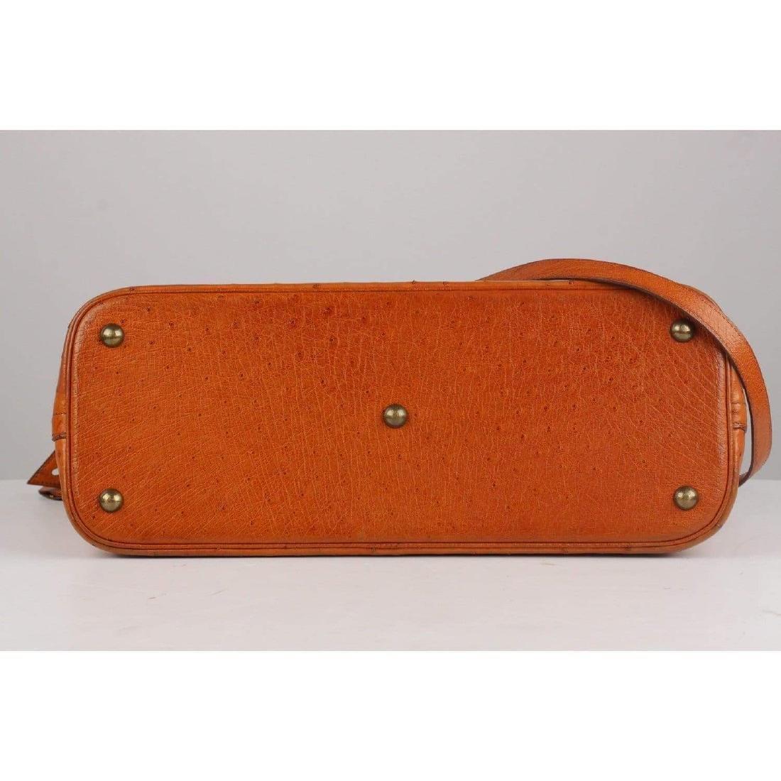 Hermes Vintage 1992 Tan Ostrich Bolide 35 Bag - 5