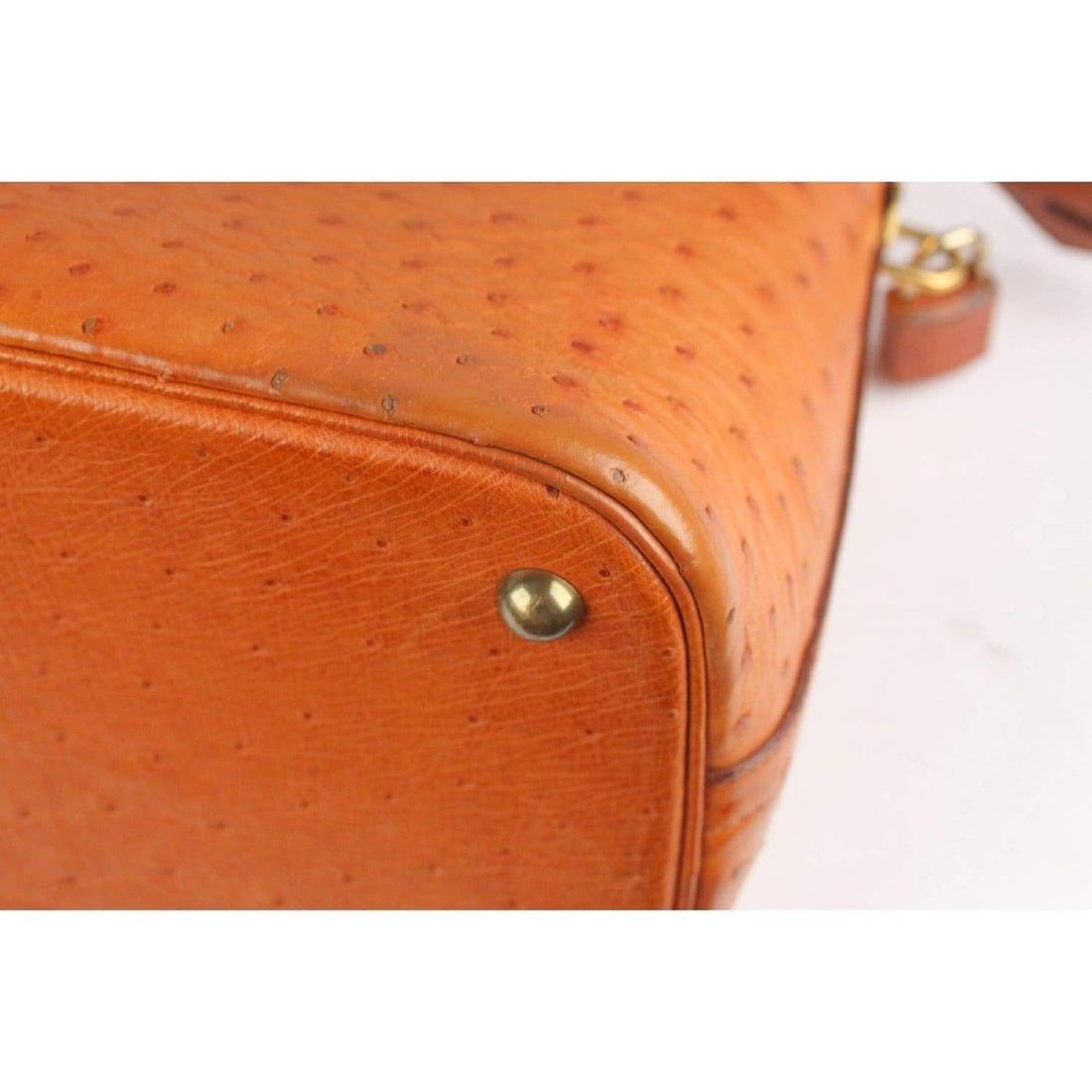 Hermes Vintage 1992 Tan Ostrich Bolide 35 Bag - 6