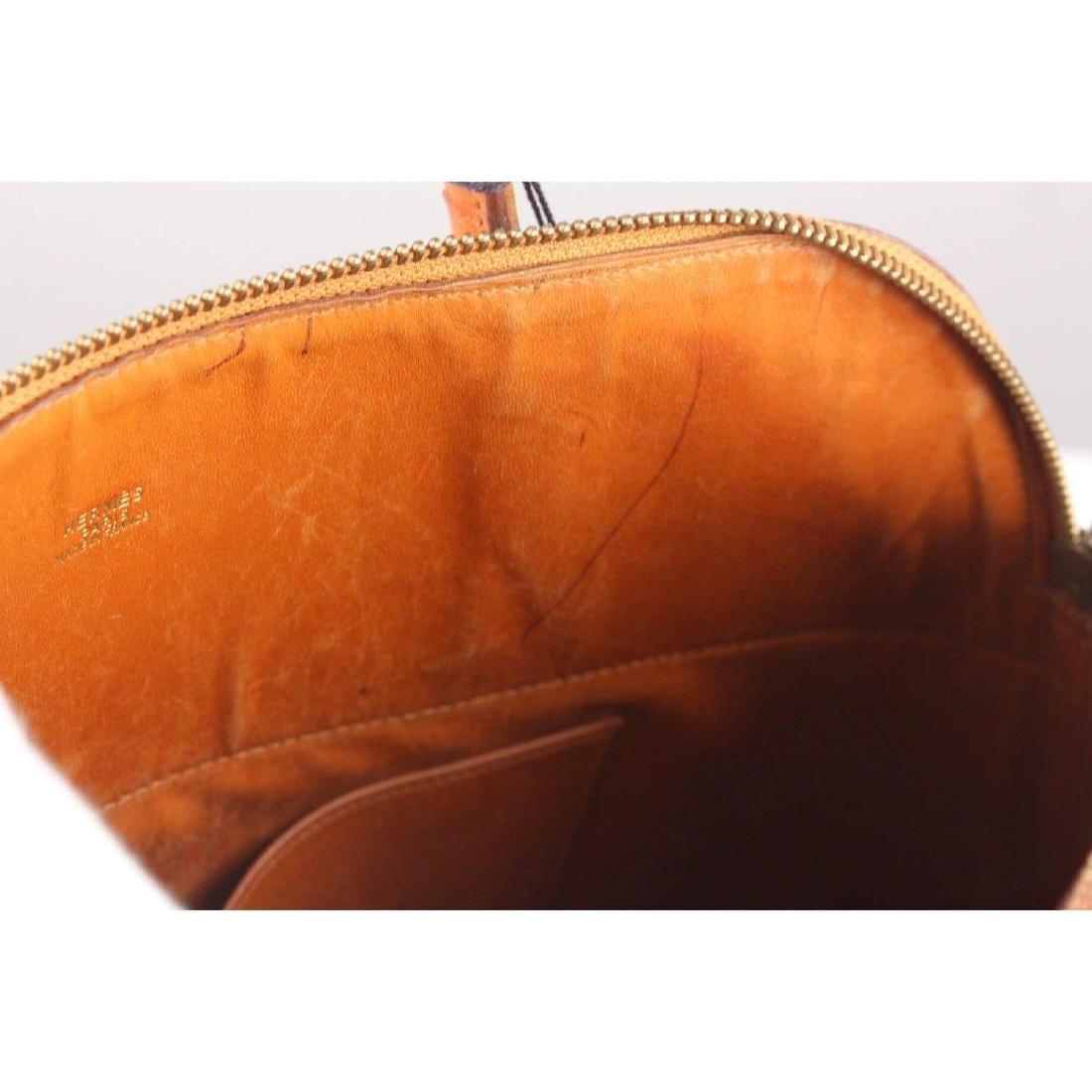 Hermes Vintage 1992 Tan Ostrich Bolide 35 Bag - 7