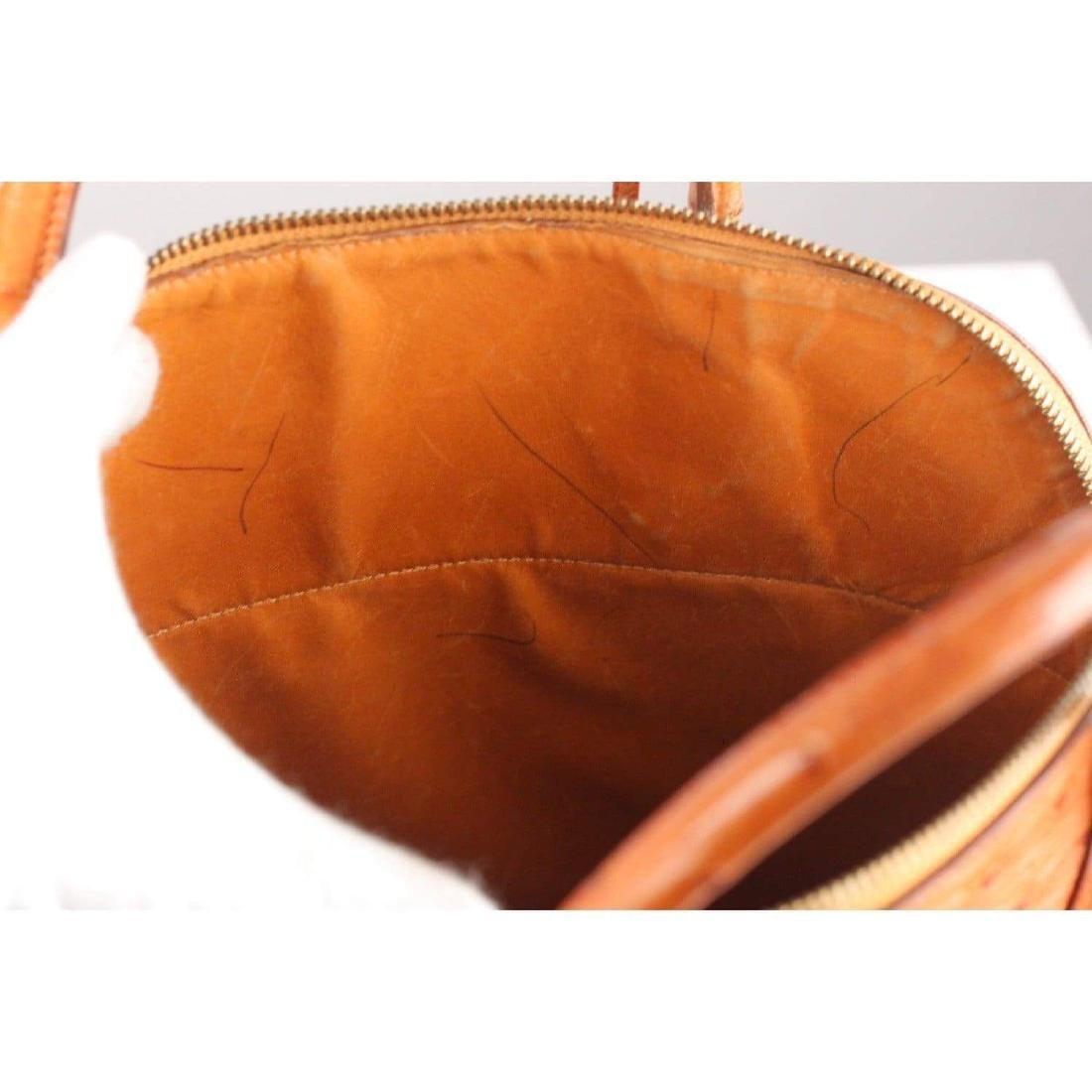Hermes Vintage 1992 Tan Ostrich Bolide 35 Bag - 8
