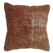 Solid Turkish Distressed Rug Pillow