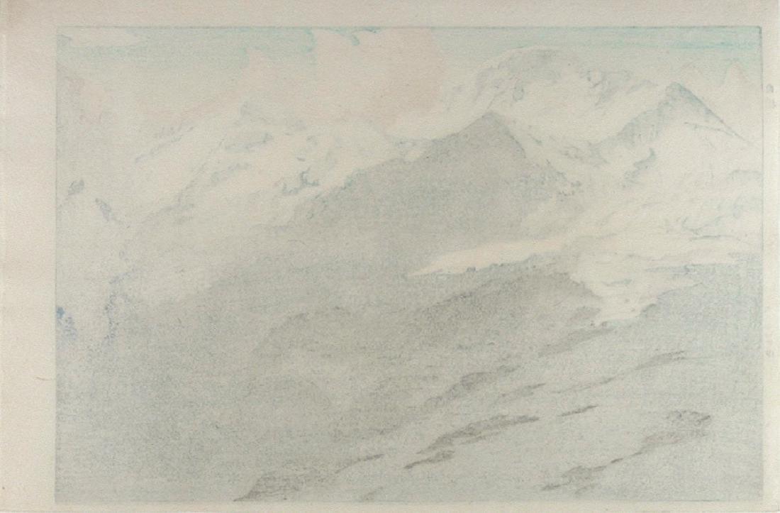 YOSHIDA, Hiroshi Woodblock The Jungfrau' (in the Swiss - 2
