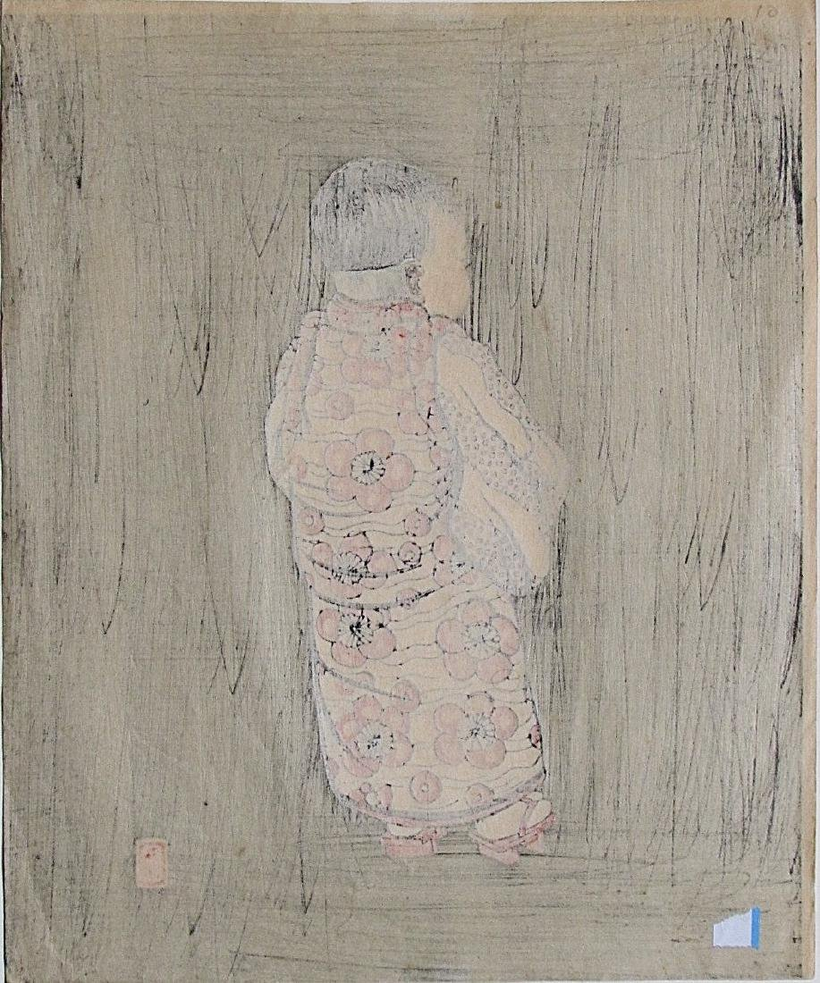 Lillian May Miller Woodblock Young Girl from the Back - 3