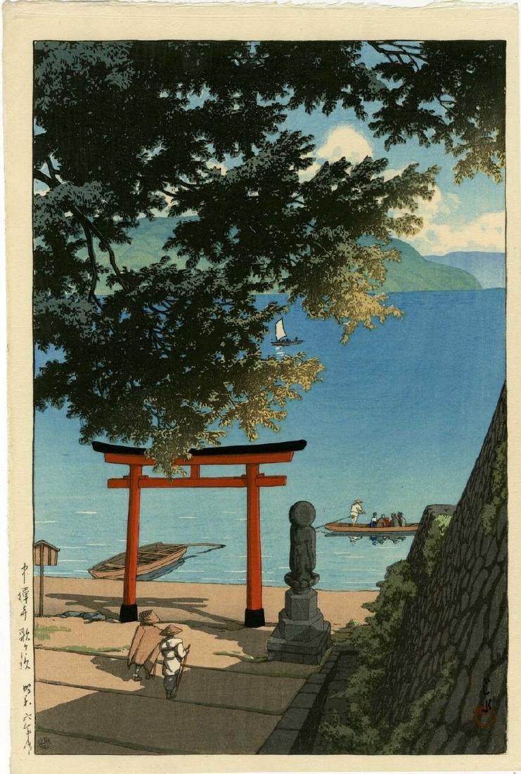 Hasui Kawase Woodblock Chuzenji, Utagahama