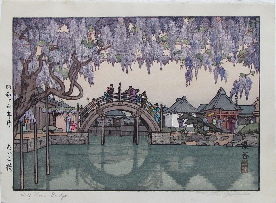 Toshi Yoshida Woodblock Kameido Gardens