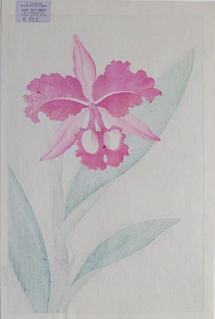 Kawarazaki Woodblock Orchid - 2
