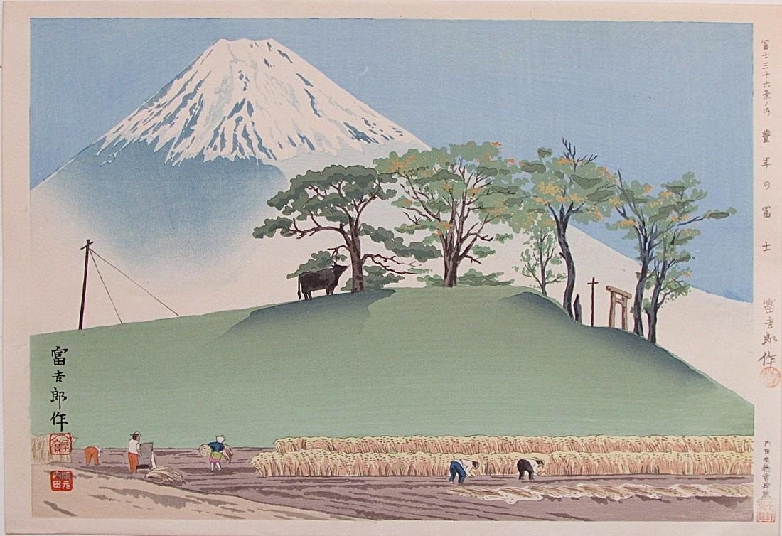 36 Views of Fuji, Honen