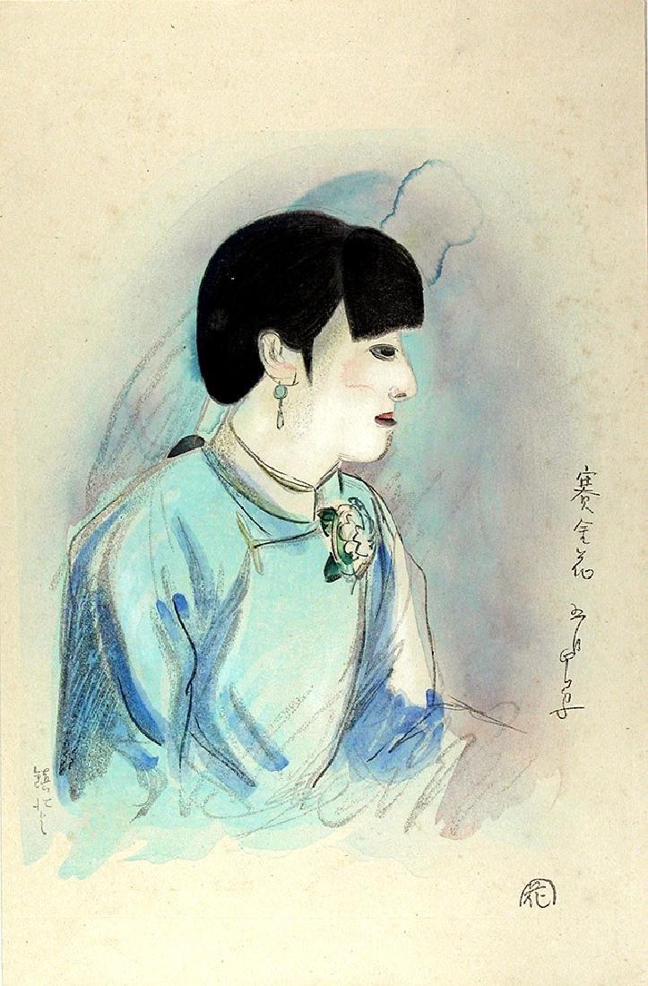 Yamamura KOKA Woodblock Saikinka, a Chinese geisha