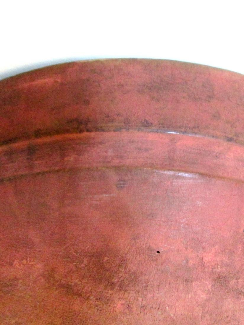 Rare Salmon Painted Huge Mixing Bowl - 5