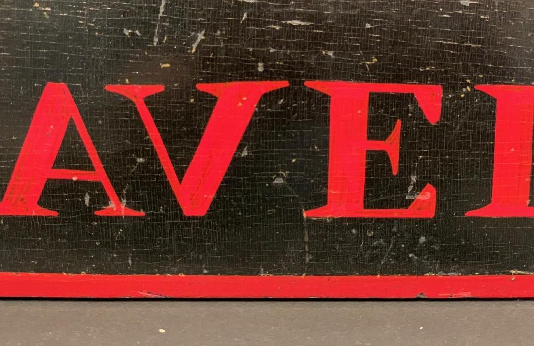 TRAVELER horse stall sign, c. 1900 - 3