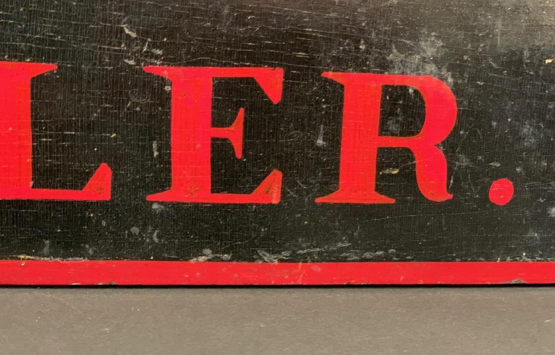 TRAVELER horse stall sign, c. 1900 - 4