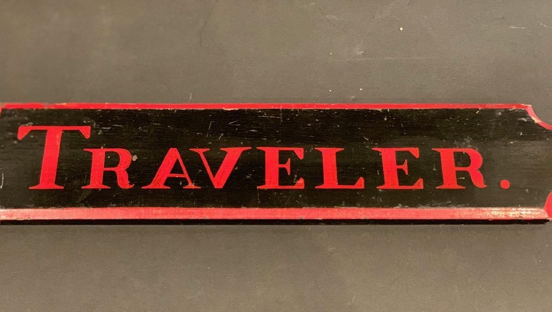 TRAVELER horse stall sign, c. 1900 - 5