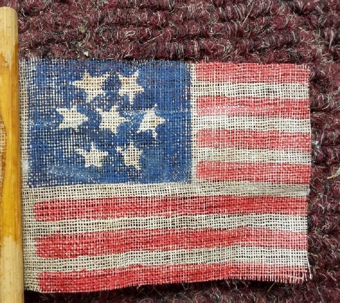 Rare 7 star American flag southern sympathy hand