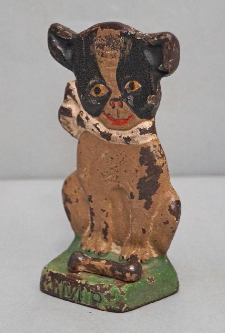 """Boston Terrier """"IMP"""" Hubley Doorstop Dated 1921 - 2"""