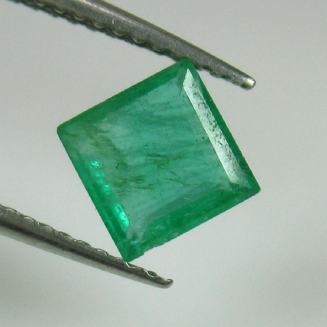 1.19 Ct Genuine Zambian Emerald 6.2X6.2 mm Square Cut