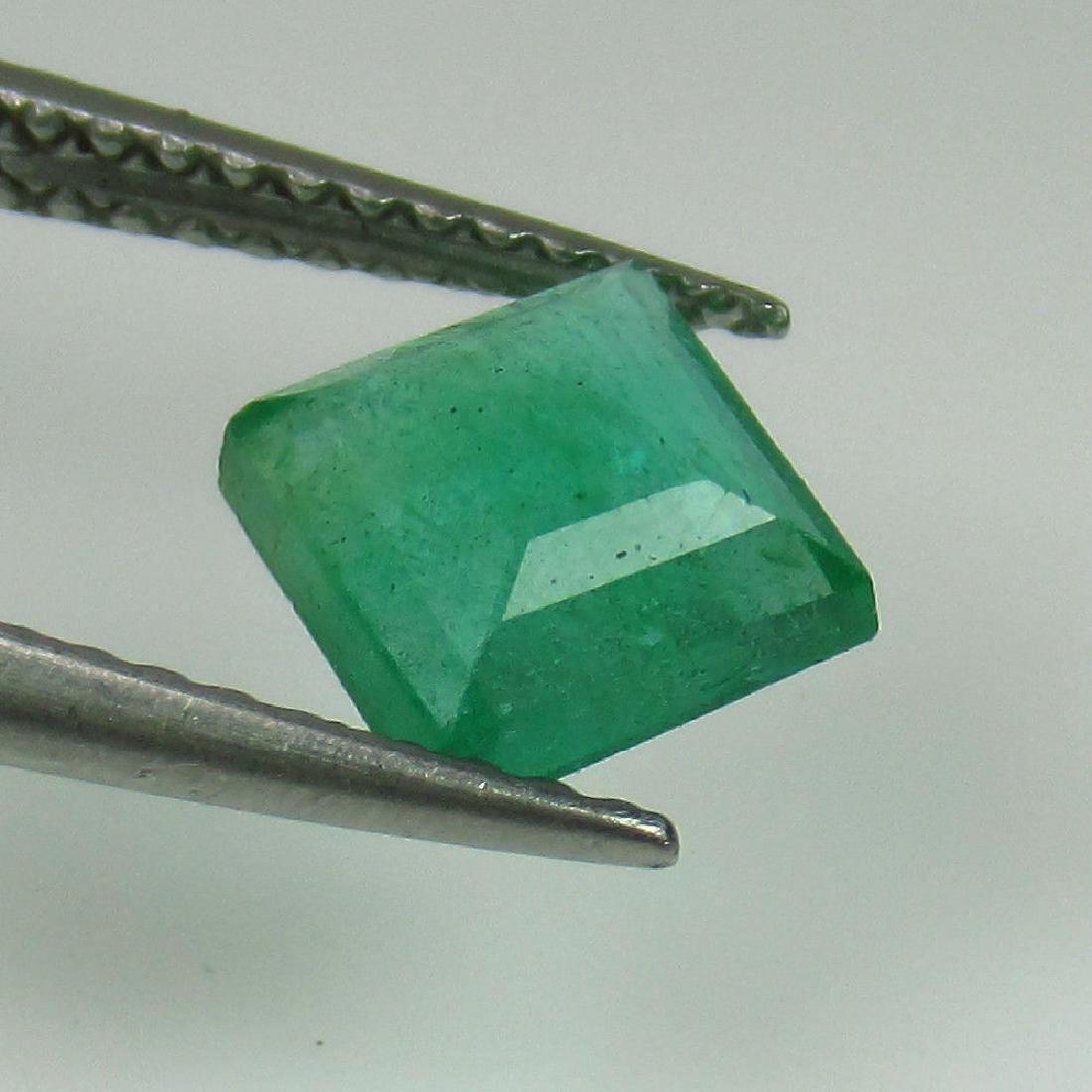 1.19 Ct Genuine Zambian Emerald 6.2X6.2 mm Square Cut - 2