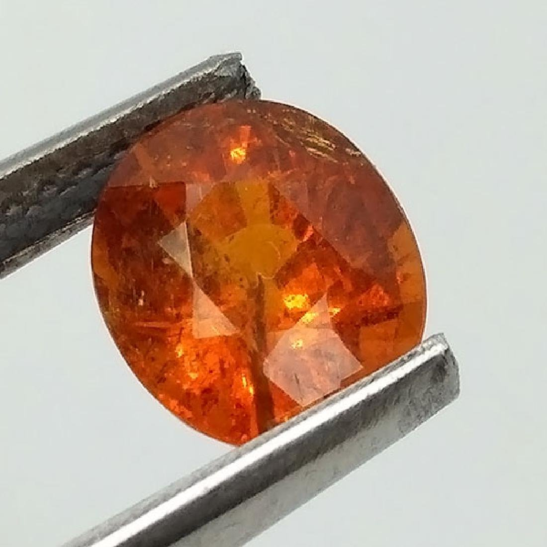 2.15 Ct Dazzling Oval Cut 100% Natural Fanta Orange - 5
