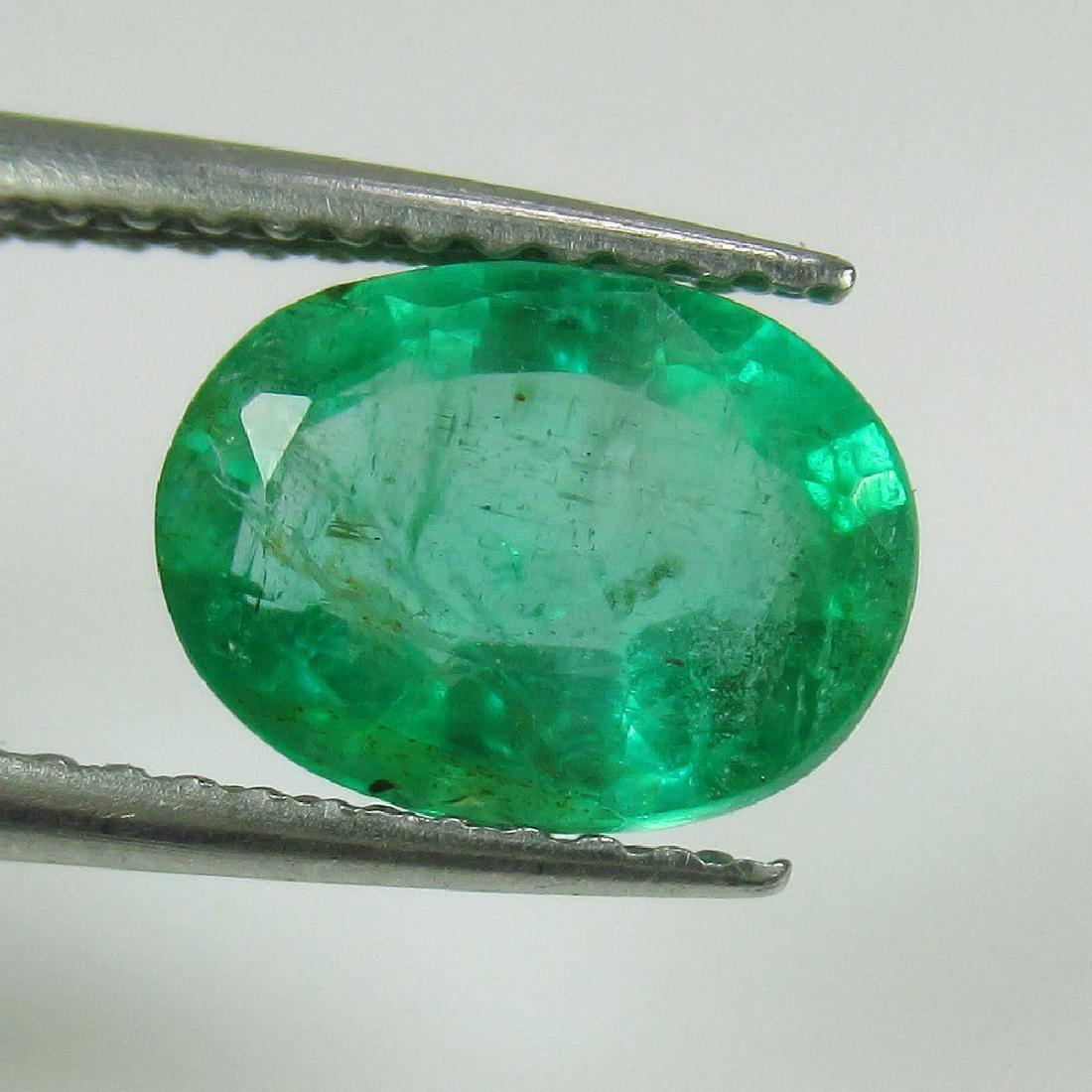 1.79 Ct Genuine Zambian Emerald Nice Oval Cut