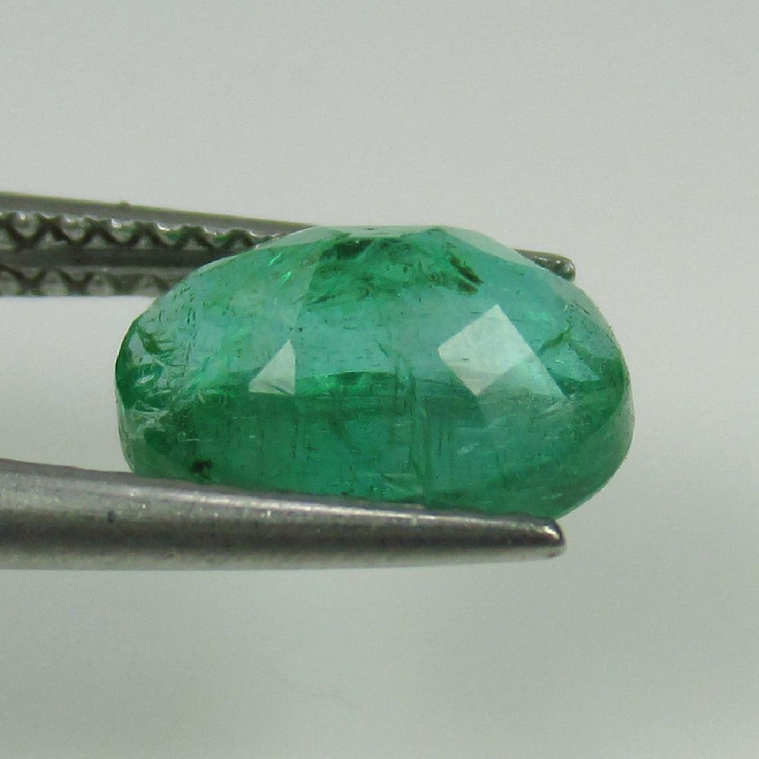 1.79 Ct Genuine Zambian Emerald Nice Oval Cut - 3