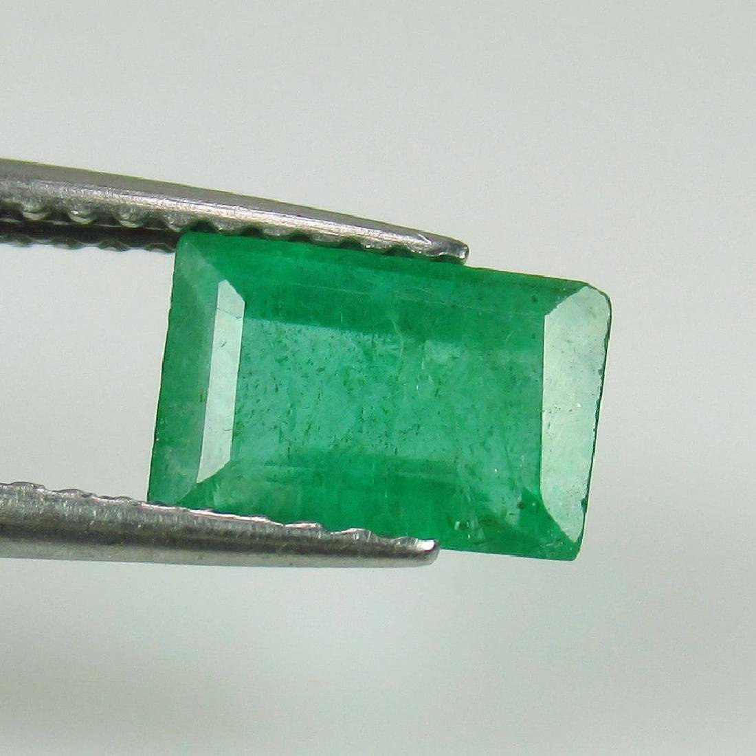 1.19 Ct Genuine Zambian Emerald 7.5x5 mm Oval Cut