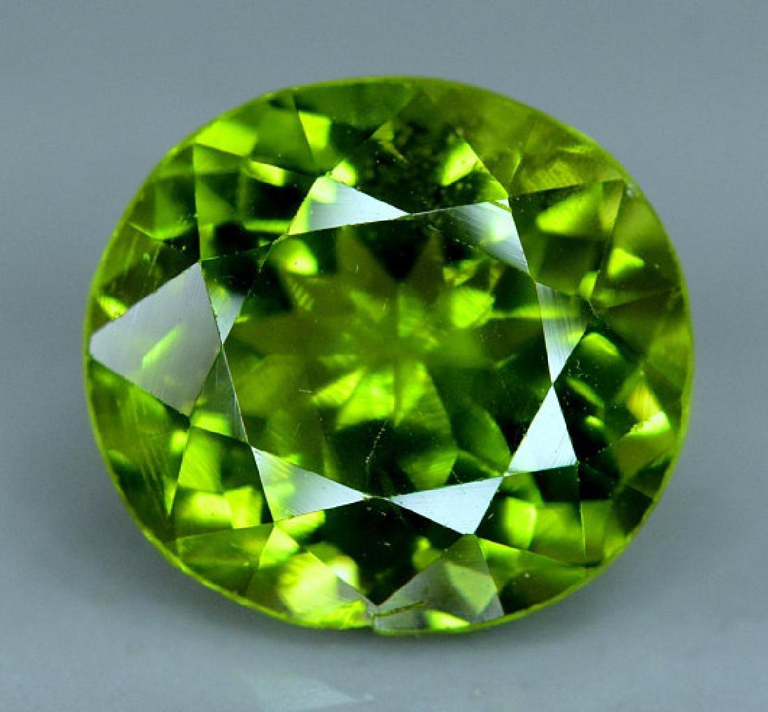 6.35 cts Top Grade Natural Olivine Green Natural
