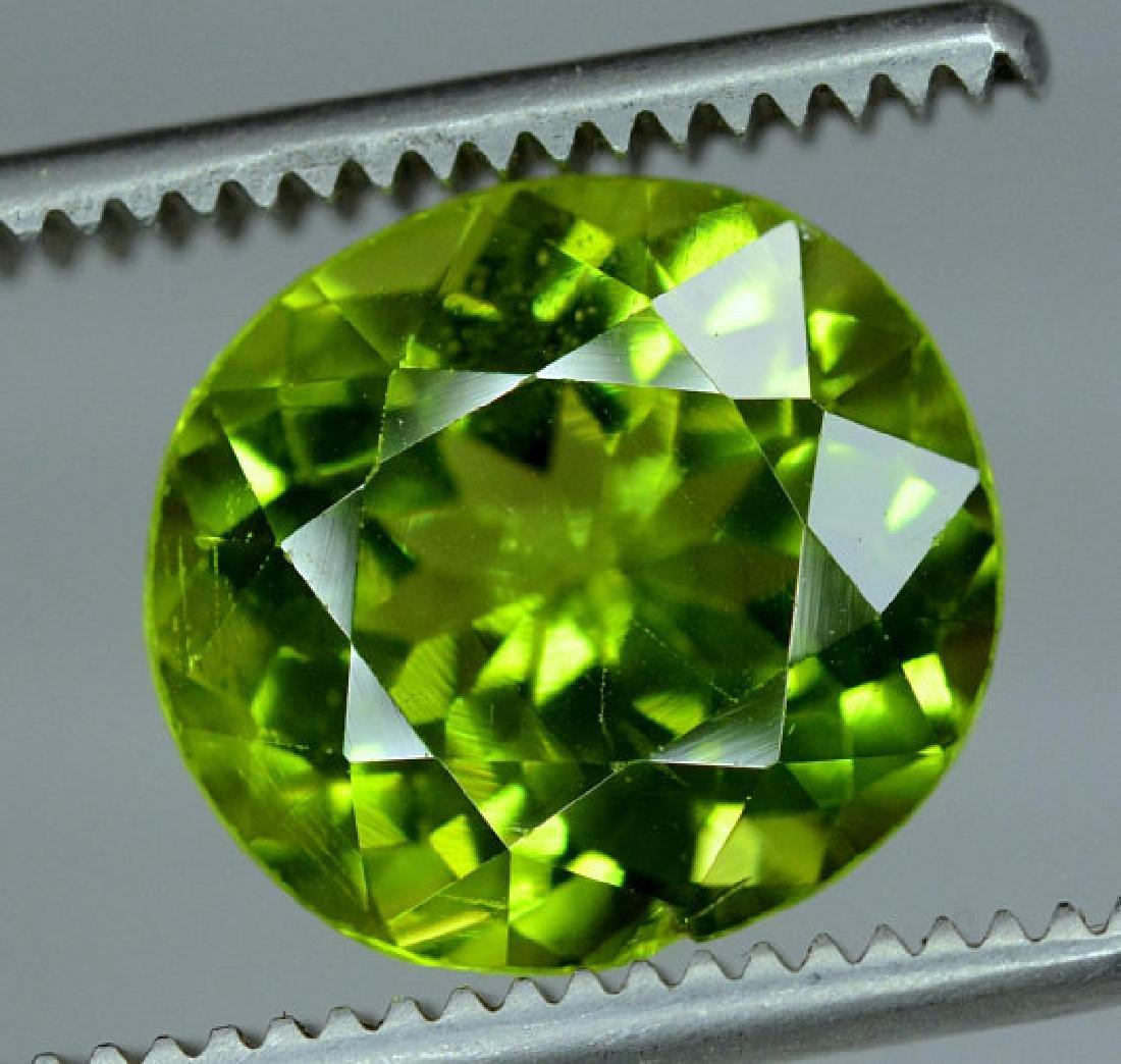 6.35 cts Top Grade Natural Olivine Green Natural - 2
