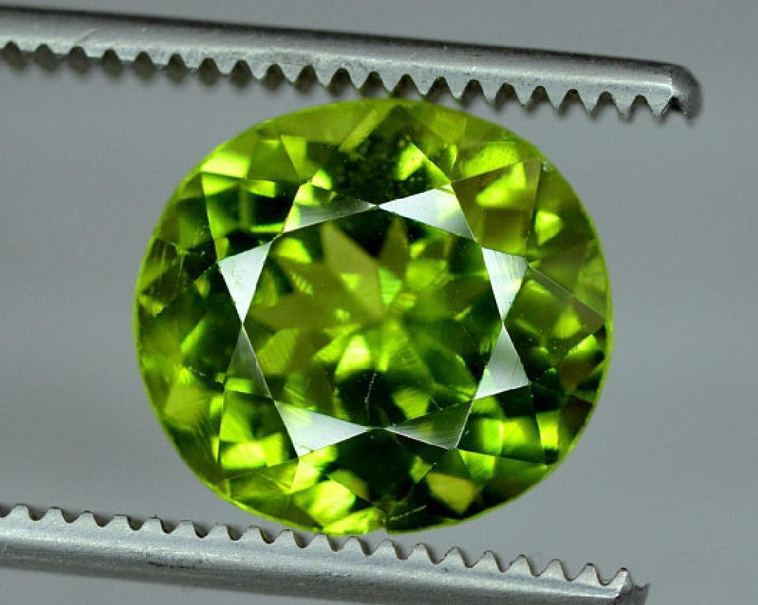 6.35 cts Top Grade Natural Olivine Green Natural - 3