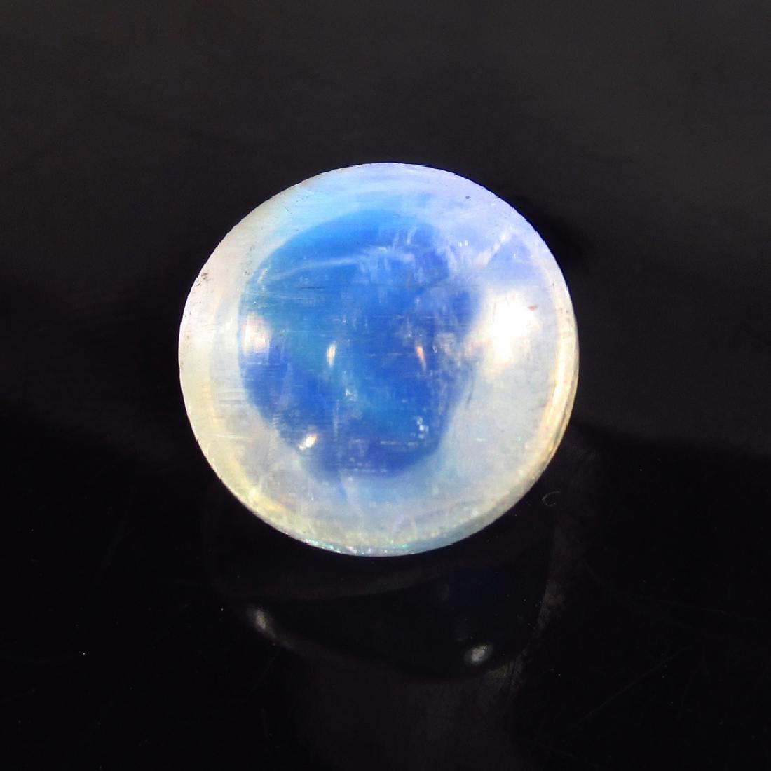 5.59 Ct Genuine Blue Moonstone 11 mm Round Cabochon Top - 2
