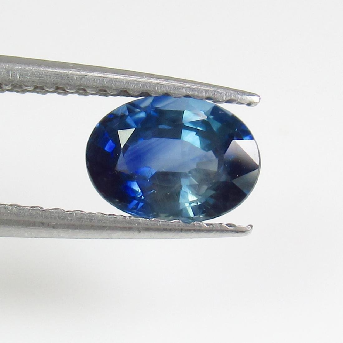 0.96 Ct Genuine SriLanka Deep Blue Sapphire 7X5 mm Oval - 2
