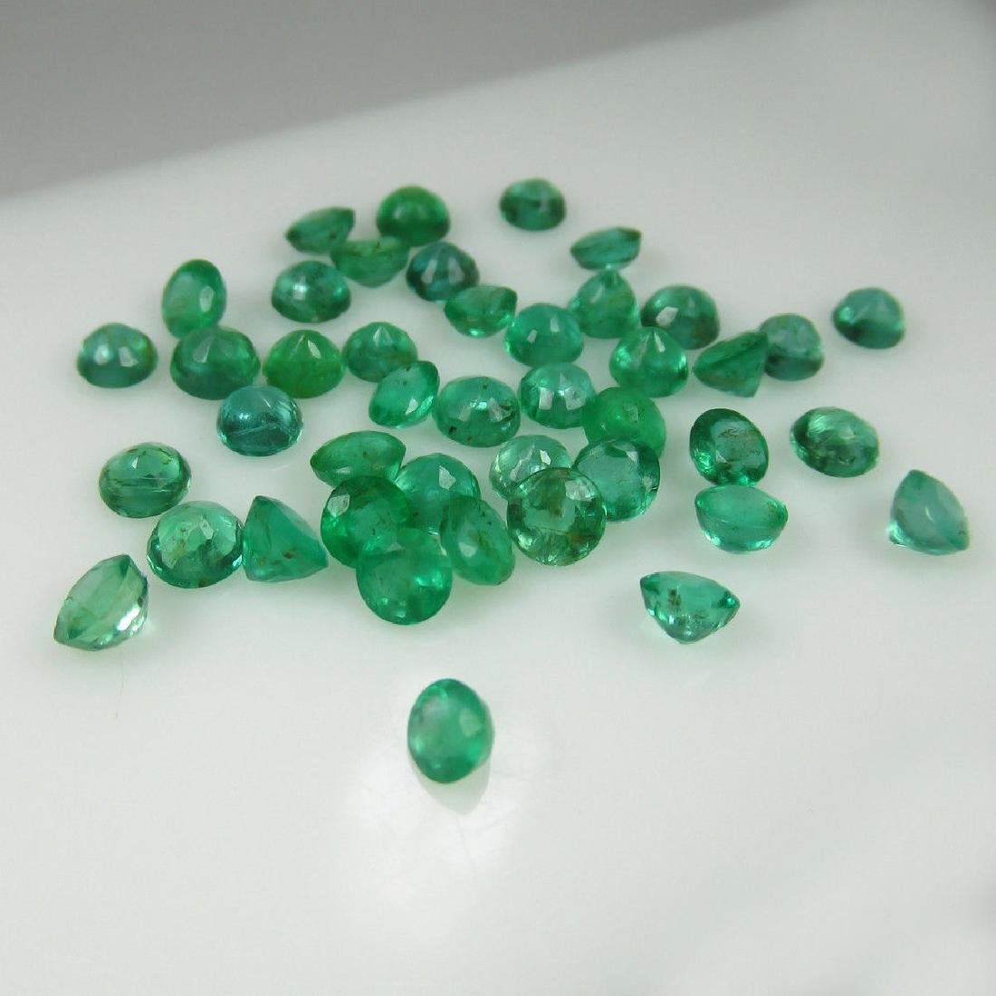 10.55 Ct Genuine 49 Loose Zambian Emerald Excellent