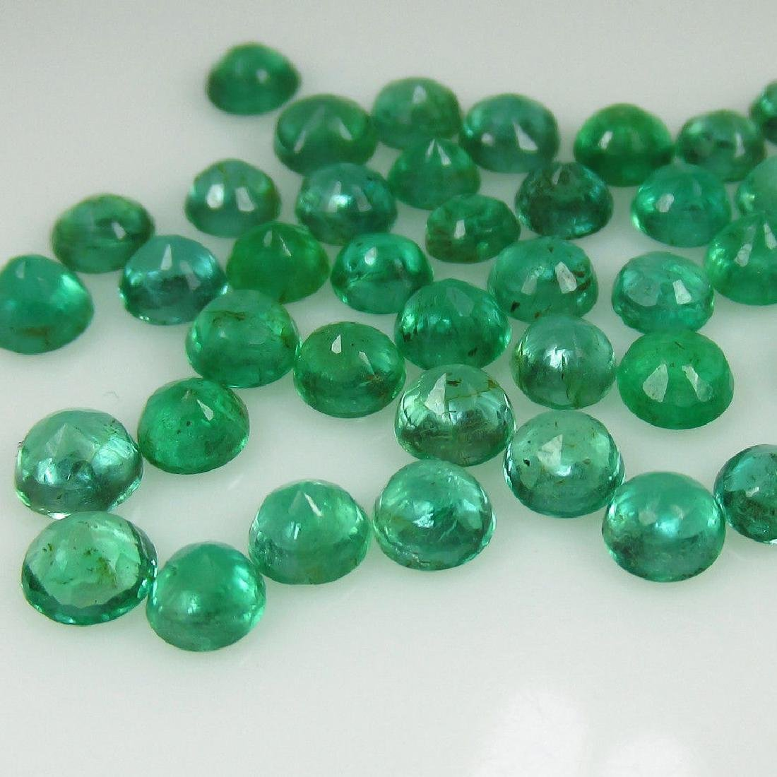 10.55 Ct Genuine 49 Loose Zambian Emerald Excellent - 2