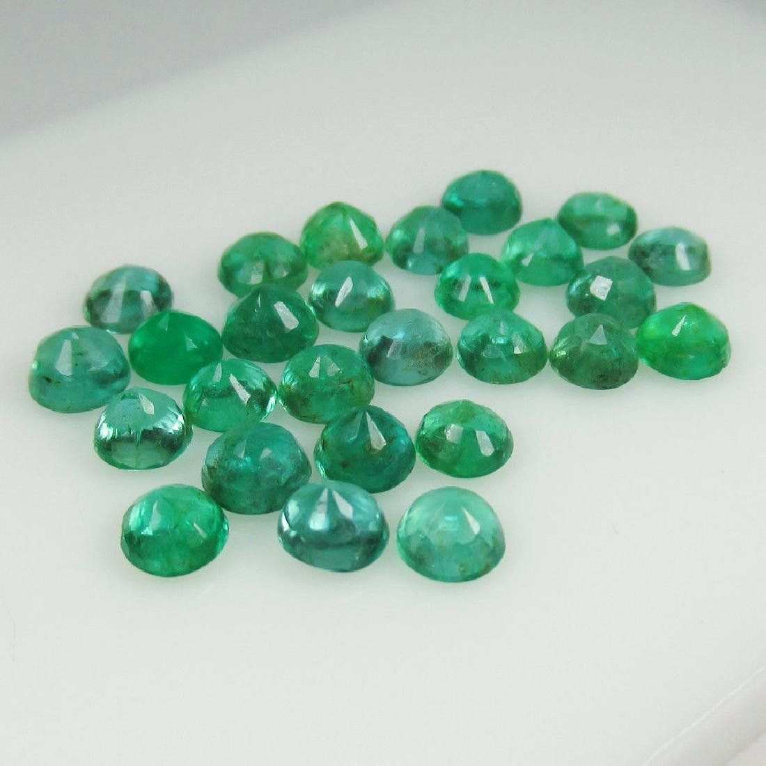 8.65 Ct Genuine 27 Loose Zambian Emerald Excellent - 4