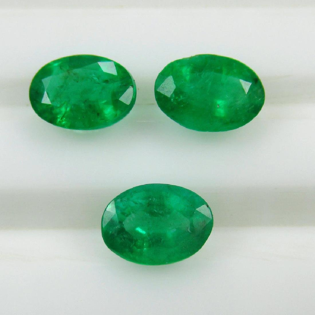 2.11 Ct Genuine Zambian Emerald 7X5 mm Matching Oval