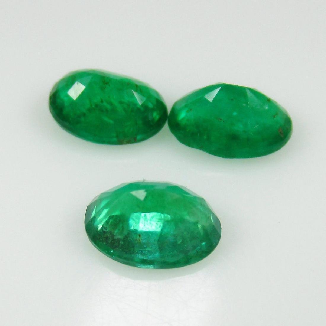 2.11 Ct Genuine Zambian Emerald 7X5 mm Matching Oval - 2