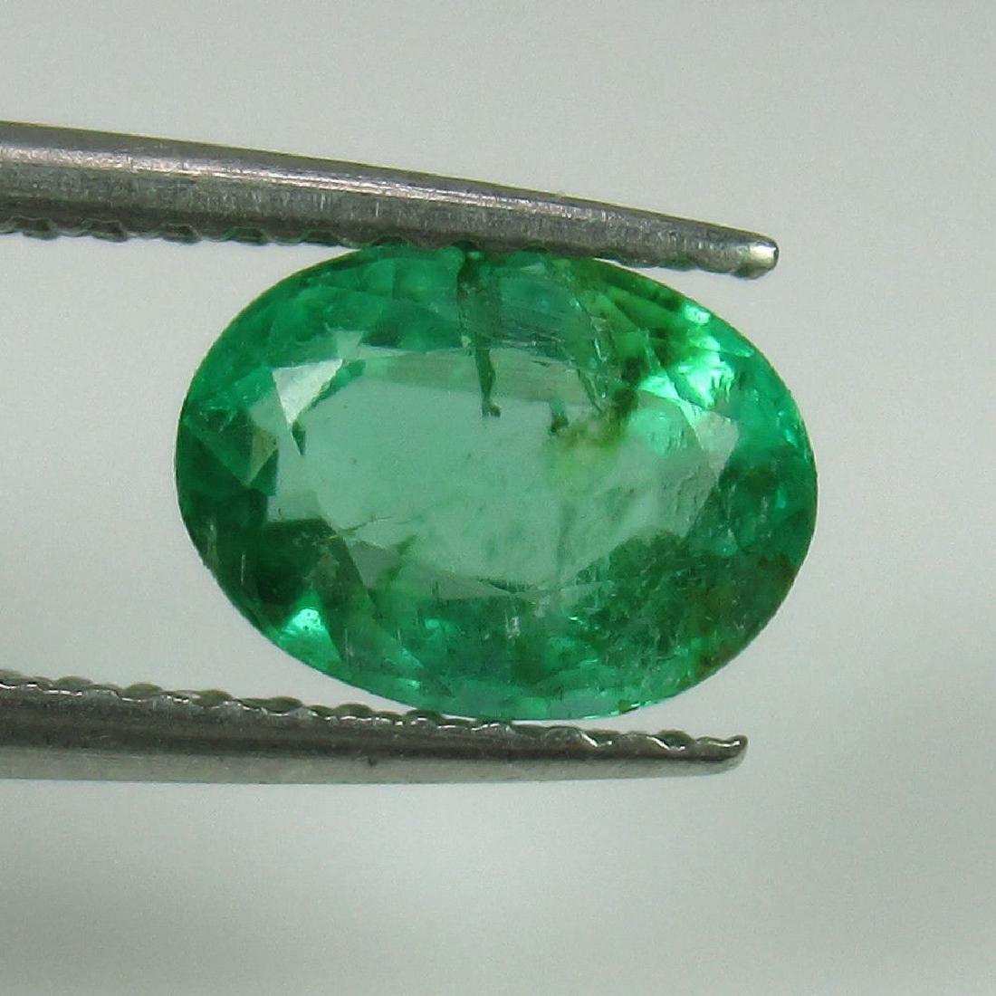 1.07 Ct Genuine Zambian Emerald Nice Oval Cut