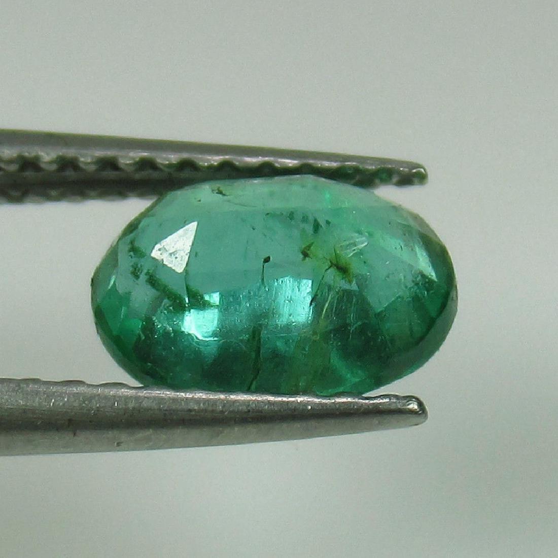 1.07 Ct Genuine Zambian Emerald Nice Oval Cut - 2