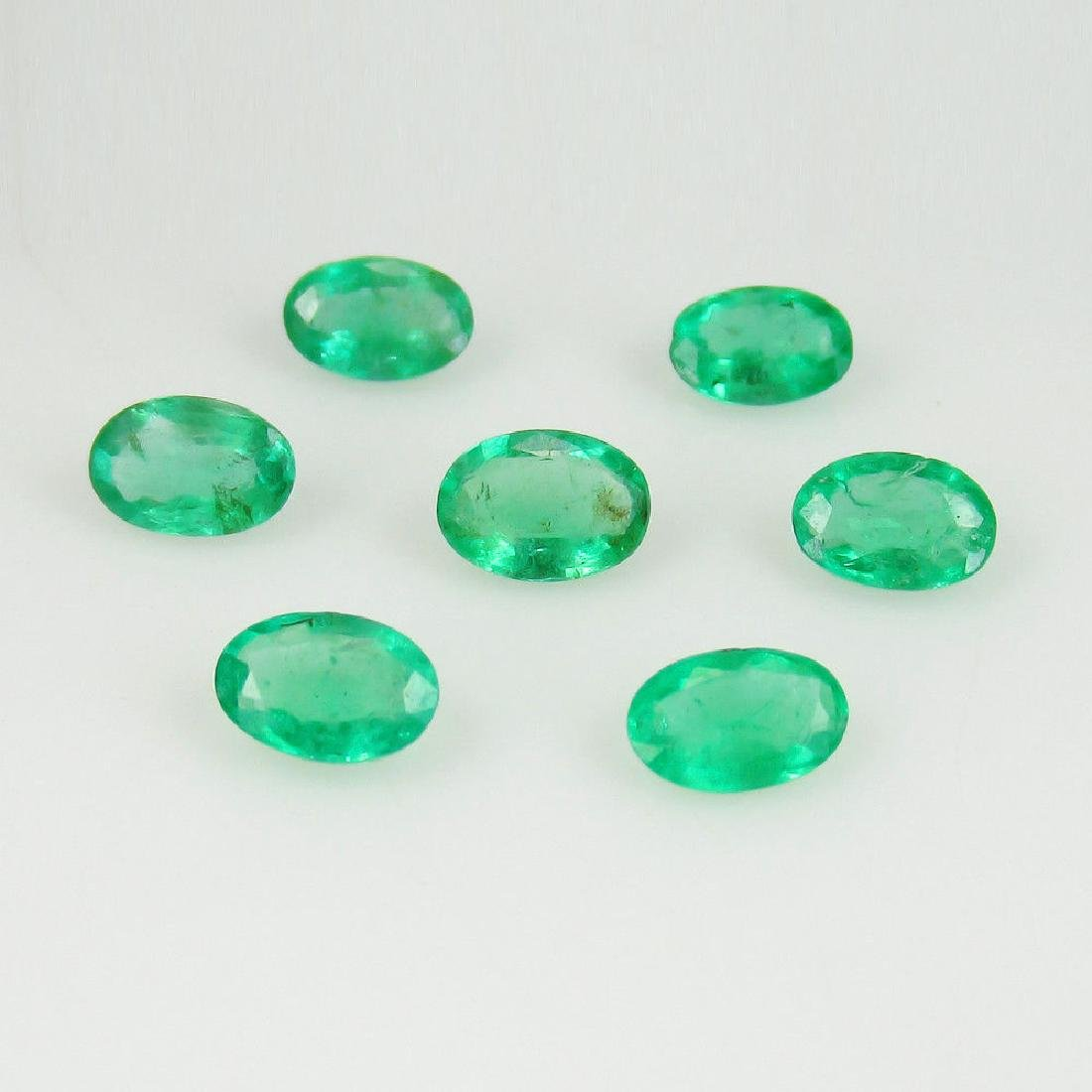 2.84 Ct Genuine Zambian Emerald Matching Oval Necklace