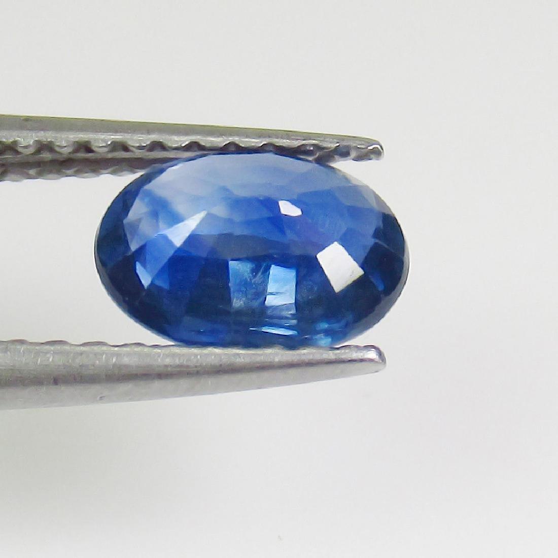 1.03 Ct Genuine SriLanka Blue Sapphire 7X5 mm Oval Cut - 2
