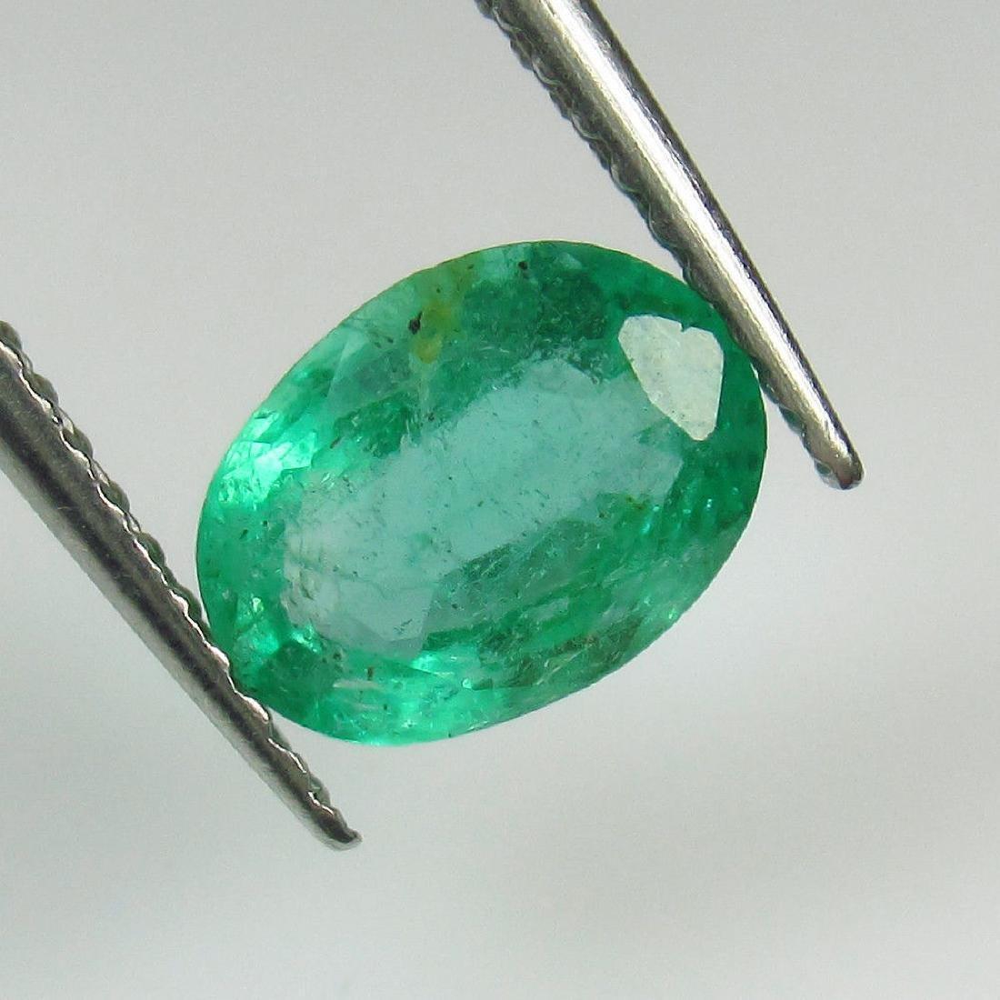 1.03 Ct Genuine Zambian Emerald Nice Oval Cut