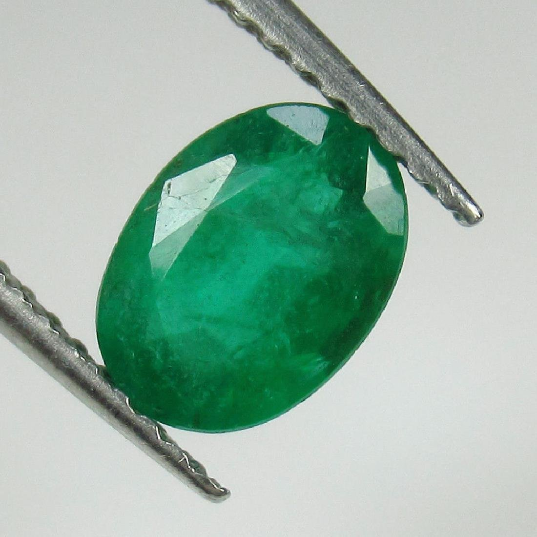 1.04 Ct Genuine Zambian Emerald 7.5X5.5 mm Oval Cut