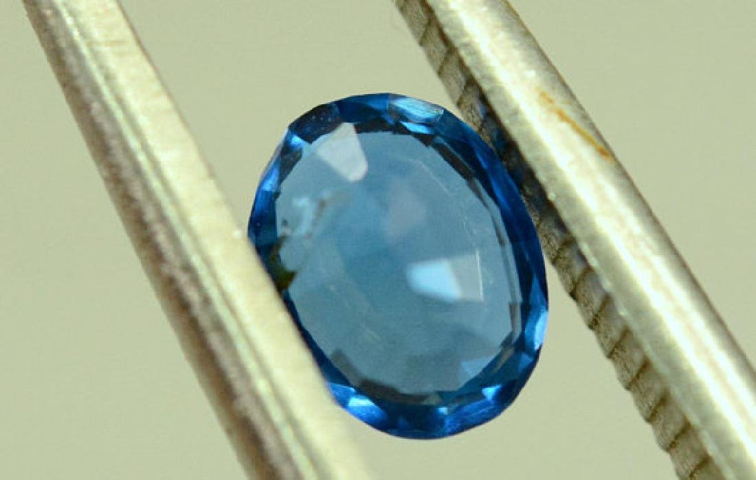 Super Quality 0.35 cts Eye Clean Rare Sapphire Blue - 9