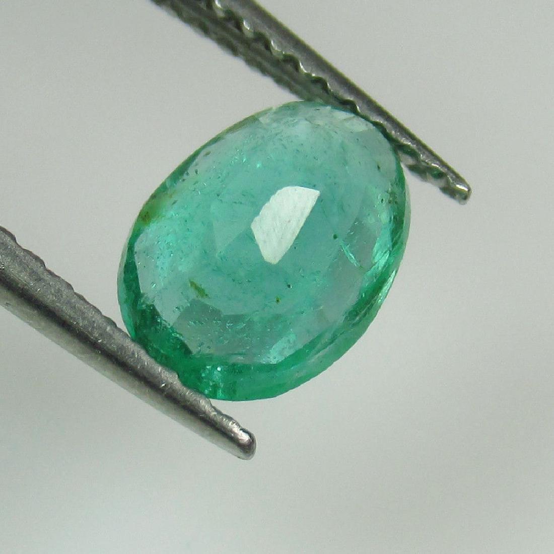 1.03 Ct Genuine Zambian Emerald Nice Oval Cut - 2